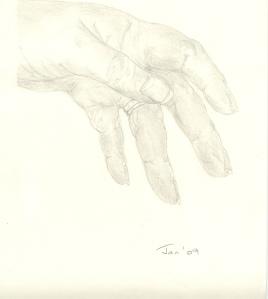 Julies left hand Jan 09